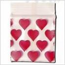 Schnellverschlußbeutel 50 x 50mm 100 Stk Heart