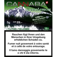 CANNABA GREEN LEMON 5gr Tabakersatz