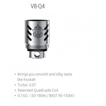 3 x SMOK TFV8 V8-Q4 Quadruple Coil