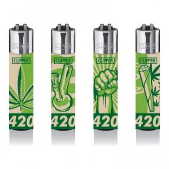 Clipper Feuerzeug 4er Set 420
