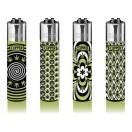 Clipper Feuerzeug 4er Set Weed Pattern