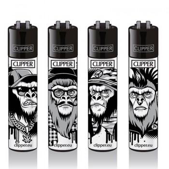 Clipper Feuerzeug 4er Monkey