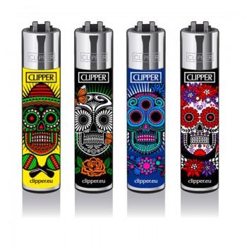 Clipper Feuerzeug 4er MexicanSkulls5