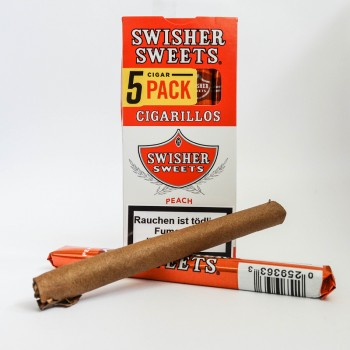 Swisher Sweet Cigarillos Peach 5 Stk