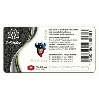 InSmoke Liquid 70ml Buckaroo Swiss Made