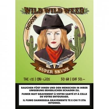 SUPER SKUNK - WILD WILD WEED - SCHWEIZER CBD BLÜTEN