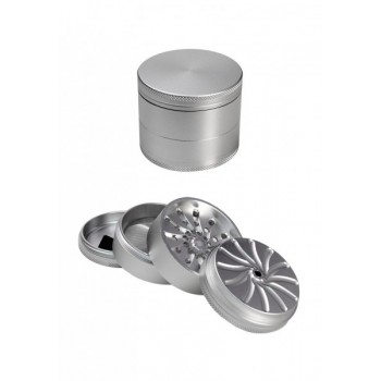 'Masher' Aluminium Grinder 4-tlg. silber