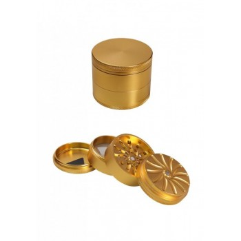 'Masher' Aluminium Grinder 4-tlg. golden