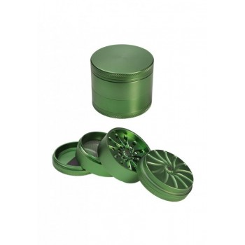 'Masher' Aluminium Grinder 4-tlg. grün