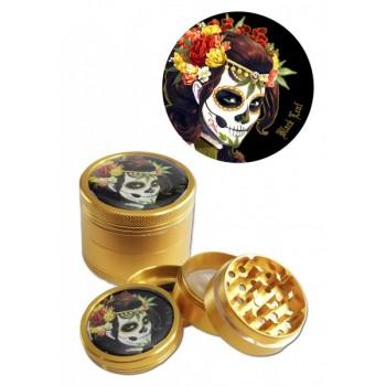 'Black Leaf' 'Mexican Skull' Grinder 4-tlg. bronze