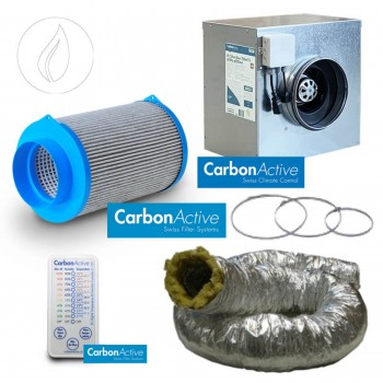 Abluftset Carbon Active Silent Tube 1250m3/h 250mm Schallisoliert