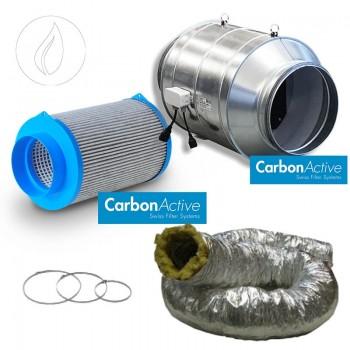 Abluftset Carbon Active Silent Tube 750m3/h 200mm Schallisoliert