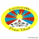 Aufkleber - Free Tibet