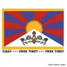 Aufkleber - Free Tibet Flagge