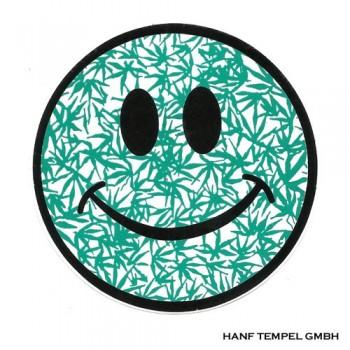 Aufkleber - Hemp Smiley