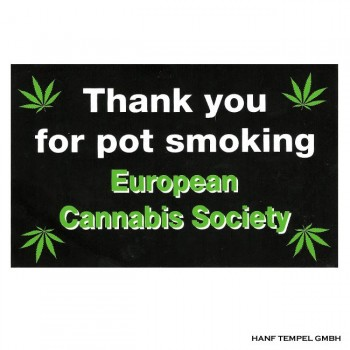 Aufkleber - Thank You For Pot Smoking