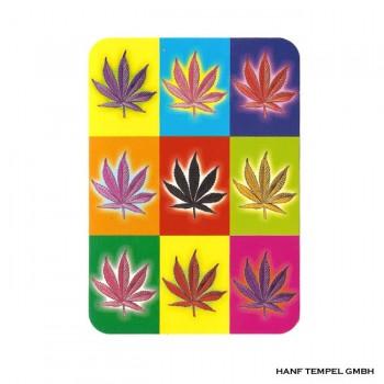 Aufkleber - Hanfblätter Warhol