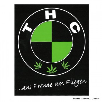 Aufkleber - THC ...aus Freude am Fliegen
