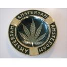 Aschenbecher 'Amsterdam' mit Hanfblatt 1