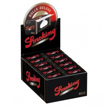 Smoking Black De Luxe Rolls 4m Box