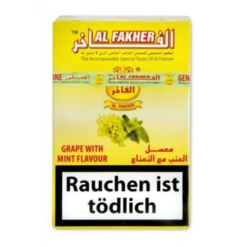Al-Fakher Wasserpfeifentabak - Traube mit Minze - 10 x 50g