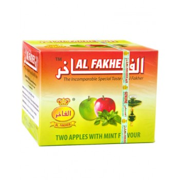 Al-Fakher Wasserpfeifentabak - Two Apples with Mint - 250g
