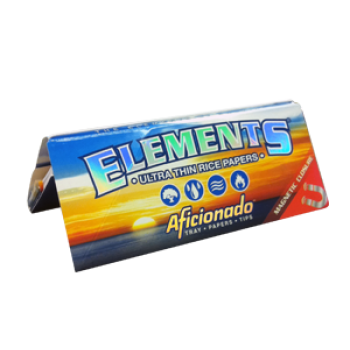 Elements Aficionado King Size Papers Tips + Rolling-Tray