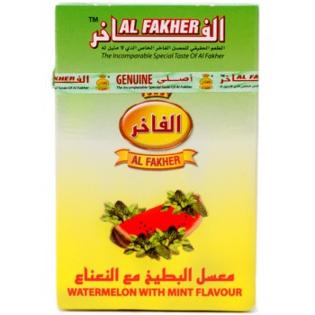 Al-Fakher Wasserpfeifentabak - Wassermelone mit Minze - 10 x 50g