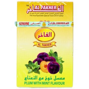 Al-Fakher Wasserpfeifentabak - Plum mit Minze - 10 x 50gr