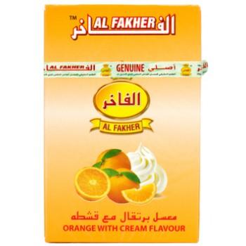 Al-Fakher Wasserpfeifentabak - Orange mit Cream - 10 x 50gr