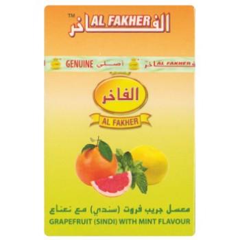 Al-Fakher Wasserpfeifentabak - Grapefruit (Sindi) mit Minze - 10 x 50gr