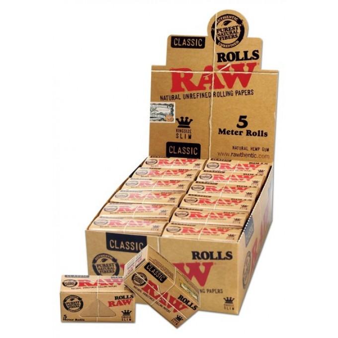 raw 39 rolls zigarettenpapier king size slim auf tempel. Black Bedroom Furniture Sets. Home Design Ideas